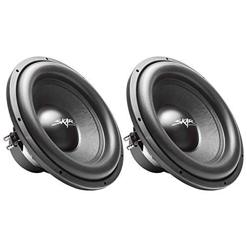 "(2) Skar Audio Sdr-15 D4 15"" 1200W Max Power Dual 4 Ohm Car Subwoofers, Pair of 2"