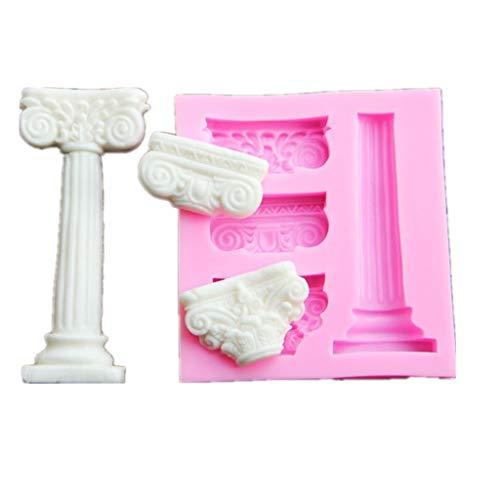 RG-FA 1 pieza de columnas romanas y alivio de fondant moldes de chocolate para hornear azúcar