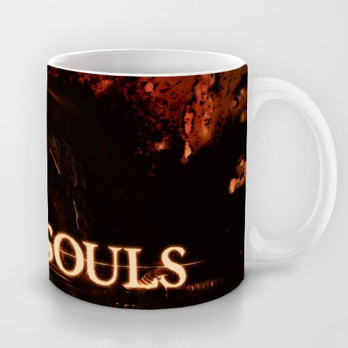 XOX-T Popular Gift Choice - White 11 oz Classic White Ceramic Mugs Cutom Design with Dark Souls(34) Coffee Mugs/Tea Mugs/Drink Cups - Dishwasher and Microwave Safe Color 14