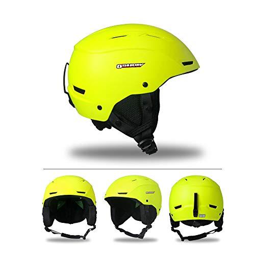 Mangen Skihelm Ski/Snowboard Schneesporthelm Helm (Gelb, M)