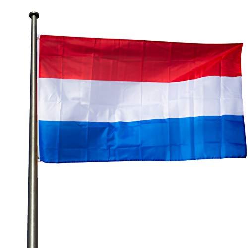 KliKil Bandera holandés Grande - 1 Bandera de Países Bajos para Balcon, Bandera Holanda para Exterior Jardin y Mastil, Netherland Flag - 90x150 cm
