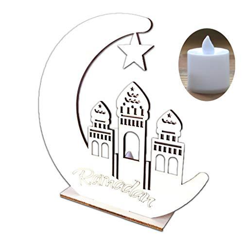 Hgfcdd Mubarak Ramadan LED Holz DIY Lampe, Muslim Islam Eid Festival Dekoratives Licht Für Zuhause, Büro Und Palast,schreibtischlampen DIY Geschenk