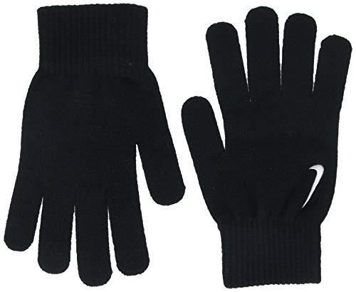 Nike Swoosh Knit Guanti, Unisex, Unisex, N.WG.A6.001.SM, Black/White, S/M