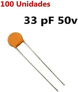 100X Condensador ceramico 33pF 0,033nF 50V 2mm. Ceramic Capacitor 33 pF