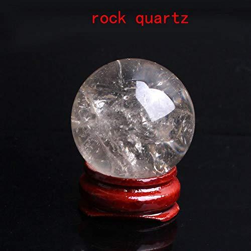 Miner 1PC 28-30mm Bola de Cristal de obsidiana Amatista Natural Soporte de...