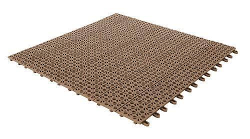 Multiplate Carrelage Flexibles en Plastique 55,5x 55,5cm pour intérieur, extérieur et Jardin, Beige, drenanti et autobloquante pièces 4