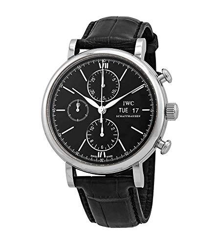 IWC Portofino 3910-29 - Reloj cronógrafo automático para hombre (esfera negra)