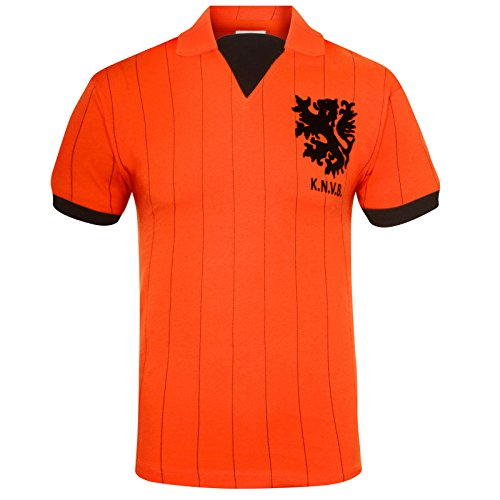 Holland 1983 - Camiseta de fútbol, Color Naranja, Talla L