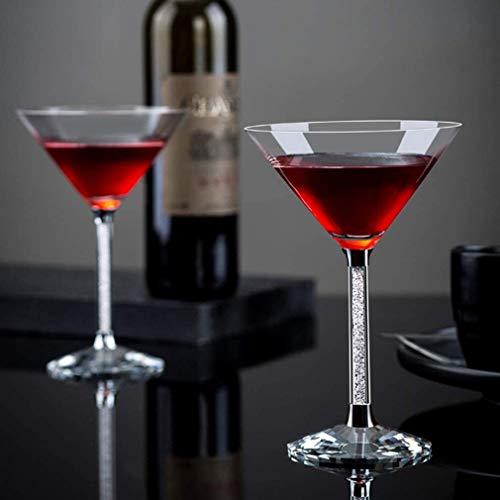 Martini Cocktailglas aus reinem Kristallglas, wiederverwendbar spülmaschinenfest, 10,2 Unzen, 2er-Set,Clear