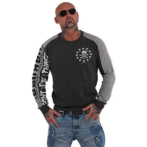 Yakuza Herren 893 Two Face Raglan Pouch Pullover Sweater