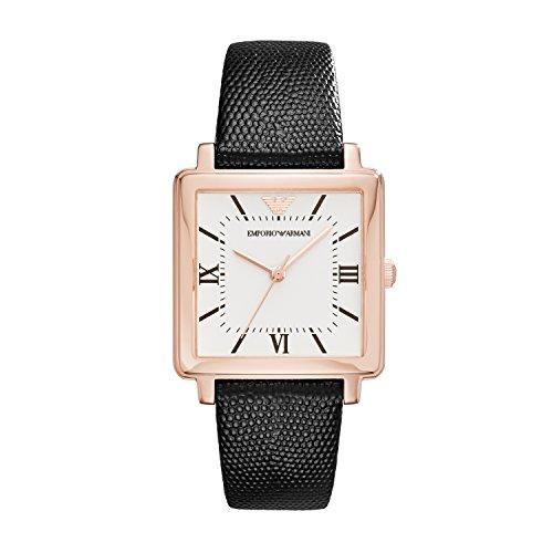 Emporio Armani Damen Quarz Uhr mit Leder Armband AR11067