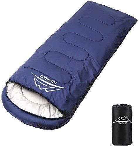 LEEPWEI[2020最新版]寝袋 封筒型 軽量 保温 210T防水シュラフ コンパクト アウトドア キャンプ 登山 車中泊...