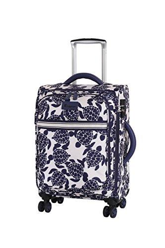 it luggage Nautical Turtles 8 Wheel Lightweight Semi Expander Cabin Suitcase, 54 cm, 44 L, Navy/Cream Sea Turtles Print