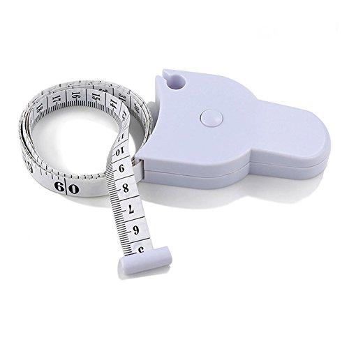 EQLEF Cinta métrica para el cuerpo con calibre de medición exacto para Fitness y medición de cintura para perdida de peso, 1,5m, 2 unidades.
