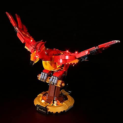 KCGNBQING Kit de iluminación LED para Lego Fawkes Dumbledore's Phoenix: Compatible con el Modelo de Bloques de construcción Lego 76394, no Incluye el Modelo Montaje de Rompecabezas