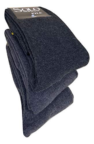 calze calzini lunghi in pile termici invernali da sci antifreddo ,calzini pesanti ad elevato isolamento termico (3-pack or 6-pack) (41-46, 2 paia Dream Socks(GRIGIO)+1 Solo Soprani GRIGIO)
