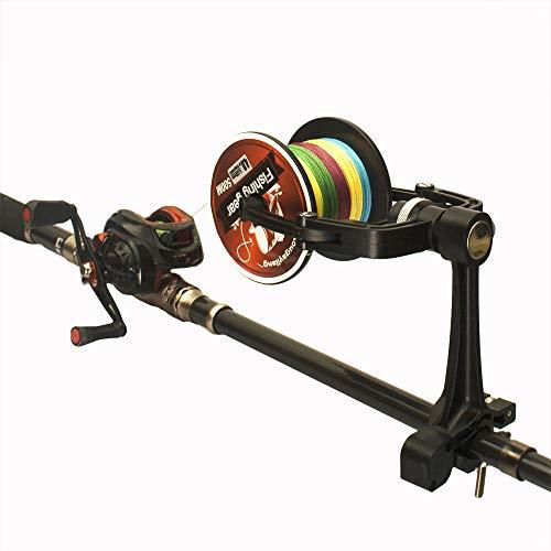 Fishcm Fishing Line Winder Spooler Machine Spinning Reel Spool Spooling Adjustable for Varying Spool Sizes Station System (Use on Rod)