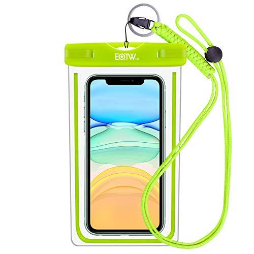 EOTW IPX8 wasserdichte Tasche, wasserdichte Handyhülle für Geld, Datenträger und Smartphones bis 16,51 cm (6,5 Zoll), Ideal für den Strand, Wassersport, fürs Radfahren, Angeln, usw. (Green)