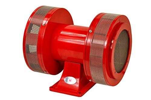 Pro-Lift-Montagetechnik 230V Sirene, Elektrosirene mit Bock, extrem laut mit 130dB, rot, 01131