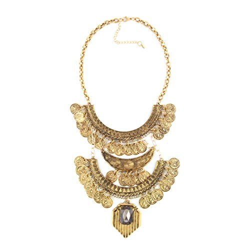 Mode, vrouwen, munt, hanger ketting, ketting, vintage ketting, statement ketting, nieuwe aankomst, bruiloft accessoires, goud