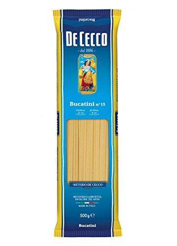 10x Pasta De Cecco 100% Italienisch Bucatini n. 15 Nudeln 500g
