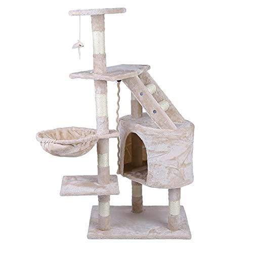 Sorprendente trepar gatos árbol 120 cm altura velocidad mascotas animales rascadores árbol juguete perfecto casa cama muebles