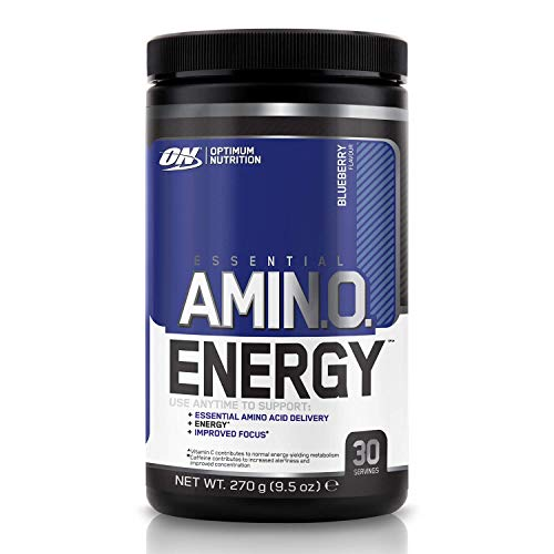 Optimum Nutrition Amino Energy Pre Workout Powder Keto Friendly with Beta Alanine, Caffeine, Amino Acids and Vitamin C, Blueberry, 30 Servings, 270 g