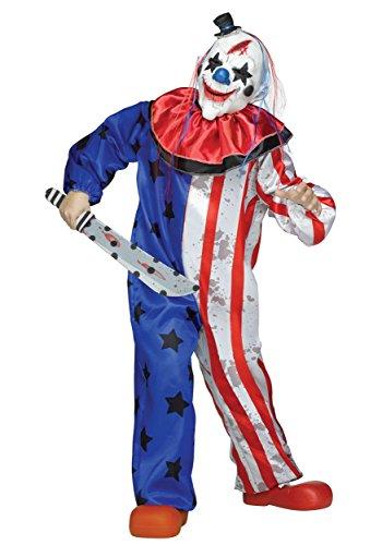Boys Evil Clown Costume Large