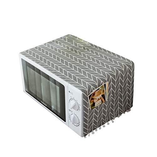 VOSAREA Kühlschrank Staubschutz Mehrzweck Grau Muster Mikrowelle Waschmaschine Top Universal Sonnencreme Abdeckung mit Aufbewahrungstasche