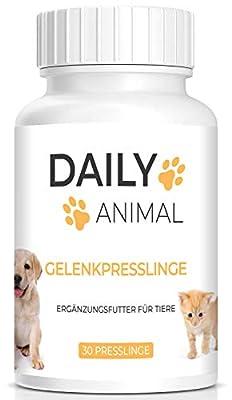 PowerSupps Daily Animal Gelenktabletten/Gelenkpresslinge für Hunde und Katzen mit Grünlippmuschel, Teufelskralle, Ingwer & Bierhefe für Gelenkgesundheit, Gelenkkraft - MSM
