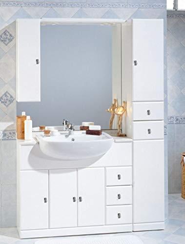 Mobile Bagno Cleo 100+30 cm arredo con lavabo semincasso Specchio con tettino l