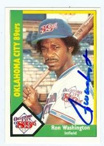 Autograph Warehouse 77684 Ron Washington Autographed Baseball Card Texas Rangers Oklahoma City 89Ers 1990 Cmc No .15 165 67