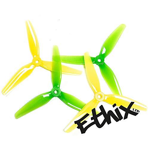 HQProp 5 Sets ETHiX S4 5X3.7X3 Lemon Lime FPV Freestyle Propeller (10CW/10CCW) N-Factory-DE