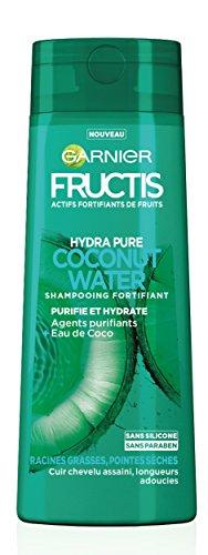 3. Champú fortificante Garnier Fructis Hydra Pure, agua de coco, 250 ml