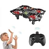 Achort Mini Drohne für Kinder und Anfänger, RC Drone Quadrocopter Mini Helikopter Handsteuerung, Flugzeuge Spielzeug, Kopflos Modus, 3D Flips und LED-Leuchten, Start/Landung mit einem Knopfdruck