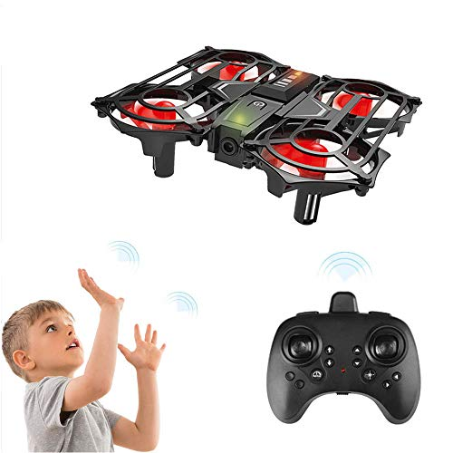 Achort Mini Drone for Kids Beginners 2.4G 4CH 6 Axis RC Quadcopter Interactive Infrared Gesture Control Helicopter with 3D Flips Headless Mode One Key Take-off/Landing Flying Toys for Children