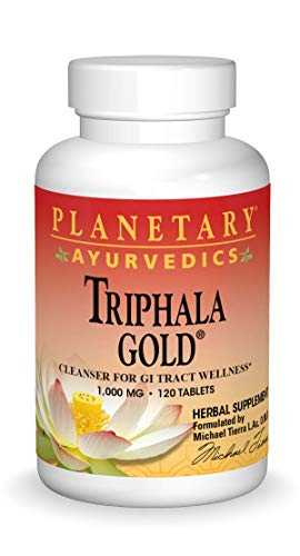 Planetary Herbals Triphala Gold 1000mg Extra Strength Ayurvedic - 120 Tablets