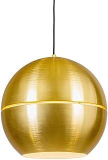 QAZQA Retro/Vintage Lámpara colgante retro dorada 40cm - SLICE Aluminio Redonda/Esfera Adecuado para LED Max. 1 x 60 Watt