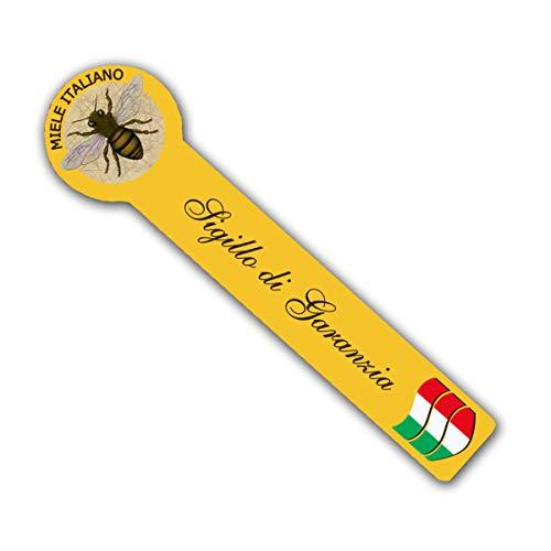 ProfessionalBee Sigillo Garanzia di QUALITA' Miele Italiano 1000 Pezzi Giallo