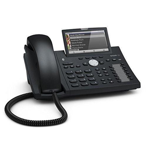 Snom Desk Telephone D375 (High-resolution Color Display 4.3 Inch, Built-in Bluetooth Compatibility) Black
