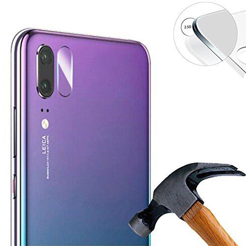 Lusee 2 x verpakking camera beschermfolie lensbescherming voor Huawei Nova 3e / P20 Lite 5,84 inch echt glas gehard glas screen protector