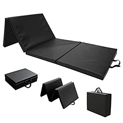 Masdkow 8'x2'x2'', Four-Fold Folding Exercise Mat with Carrying Handles, Lightweight Tumbling Mat for Gymnastics and Home Gym, Protective Flooring Workout Mat