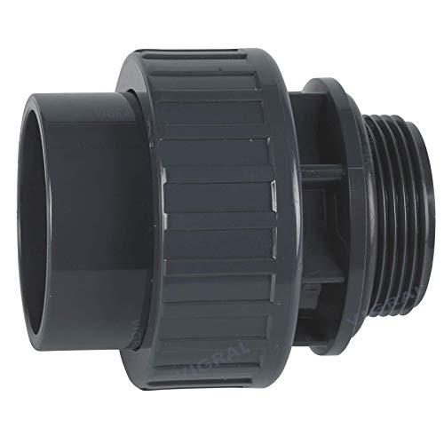 Plimat PVC Klebefitting 50 mm T-Stück Bogen Rohr Winkel Muffe Kappe Verschraubung (PVC Verschraubung O-Ring 50mm x 1