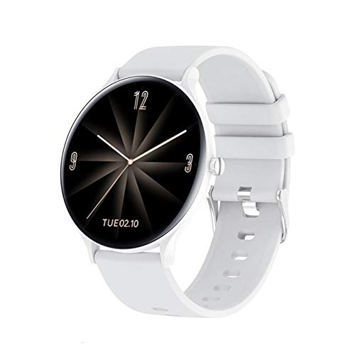 Hombres Smart Watch Men's Bluetooth Call Impermeable Deportes Fitness Watch Weath Tracker Tiempo SmartWatch Mujer Android iOS, Monsteramy (Color : White BW0172)