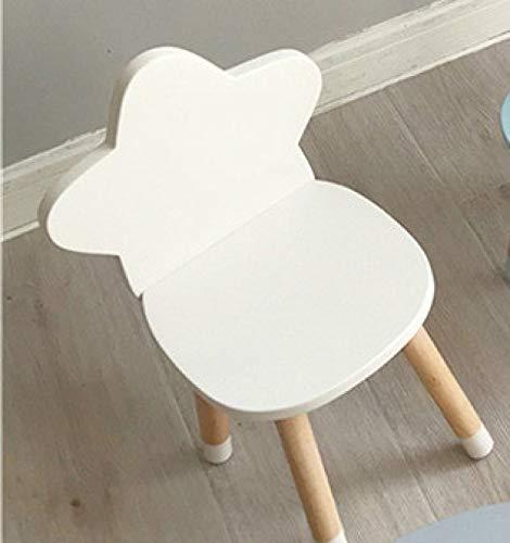 Duanyangshangmaoyouxingongsi Taburete de Madera de Estilo nórdico para niños Zapatos de Muebles de Mesa Banco Silla de Escritorio Infantil (Color : White)