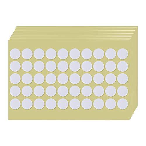 TSLBW Adesivi per Stoppini Adesivi per Candele Resistenti al Calore Adesivi biadesivi per stoppini di Candele Adesivi Candele Doppia Faccia per Fai-da-Te (500 Pezzi)