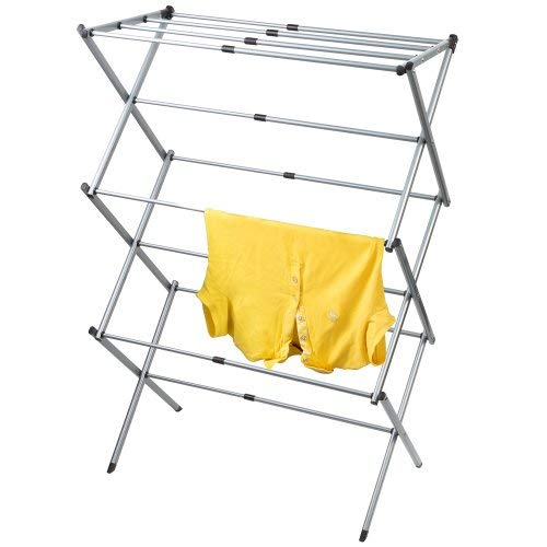 Artmoon Gobi Foldable Drying Laundry Rack, Portable Clothes Horse Made of Rustproof Steel, Extendable 17.3
