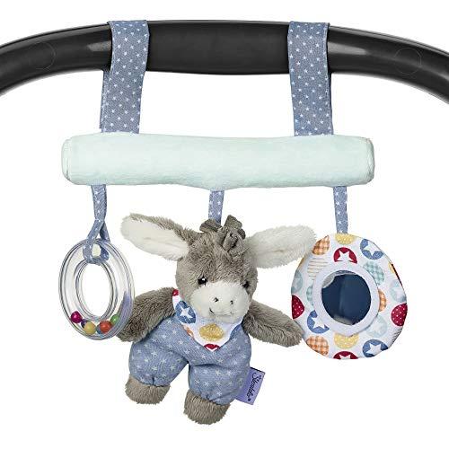 Sterntaler 6602000 Spielzeug zum Aufhängen mit Klettverschluss, Esel Emmi, Inklusive Rassel, Alter: Für Babys ab der Geburt, Mehrfarbig