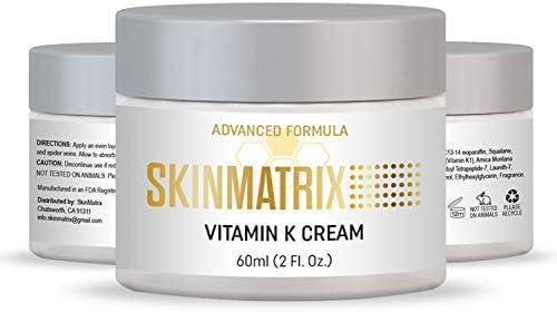 Vitamin K Cream Reduces the Appearance of Bruising Dark Under Eye Circles Spider Veins Broken product image