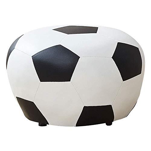 A/N Ottoman Seat Cushion Footstool Pouffe Stool - Footstool Shoe Bench Children S Soccer Sofa Imitation Leather-Football